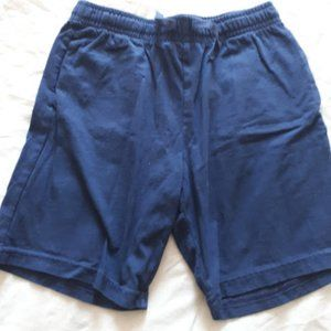 H&M Jersey Cotton Shorts Navy Blue Boys Size 6-7